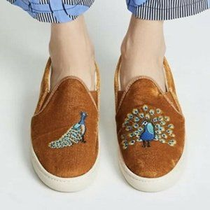 Soludos Embroidered Peacock Sneakers Size 8